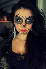 Face Makeup Designs For Halloween sugar skull make up artistic makeup pinterest sugar skulls