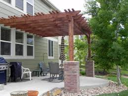 modern attached pergola design attached to the house modern