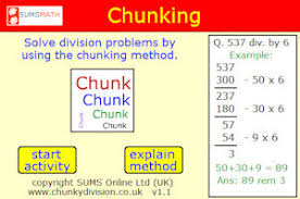 division by chunking method an example and lots of questions