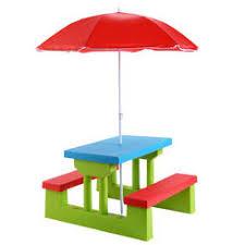 kids outdoor picnic table kid picnic table umbrella