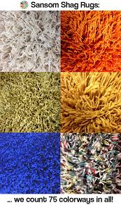Burnt Orange Shag Rug 75 Colors Of Shag Rugs And Carpets From Sansom Shag Rugs Oh So