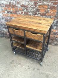 Kitchen Island Made From Reclaimed Wood Best 25 Industrial Kitchen Island Ideas On Pinterest Industrial
