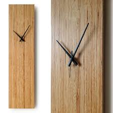 large pine wood wall clock