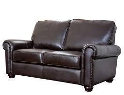 Sofas And Loveseats Amazon Com Abbyson Wilshire Italian Leather Loveseat Home U0026 Kitchen