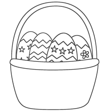 easter egg basket coloring pages u2013 happy easter 2017