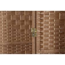 rhf 6 ft tall diamond weave fiber room divider natural 4