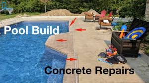 pool house build concrete repairs youtube