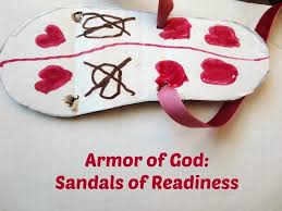 the armor of god series sandals of readiness play eat grow