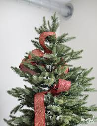 Put Ribbon On A Christmas Tree