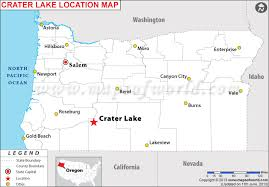 map of oregon near crater lake is crater lake oregon