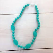 aqua baby nuby teething trends silicone necklace aqua mom style