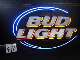 bud light lighted sign man cave neon blowout in minneapolis minnesota by a2c