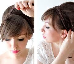 Hochsteckfrisurenen Ohne Haargummi by Geflochtene Haare Eine Effektvolle Frisur Aus Geflochtenen Zöpfen