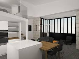 projet cuisine 3d rénovation d un duplex et extension au coeur de bordeaux by agence