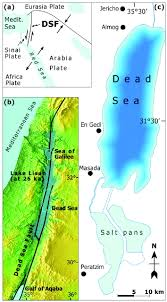 Dead Sea Map A Large Scale Radial Pattern Of Seismogenic Slumping Towards The