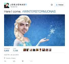 joe jonas is loving your winter storm jonas memes winter storm and