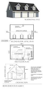 Grage Plans 3 Car Loft Garage Plan 2280 3 46 U0027 X 28 U0027 By Behm Designbehm