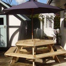 Free Plans Hexagon Picnic Table 14 best outdoor benches and tables images on pinterest outdoor