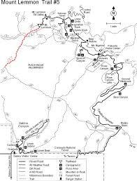 mt lemmon hiking trails map coronado national forest mount lemmon trail 5
