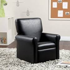 Childrens Leather Chair And Footstool Toddler Recliners Foter