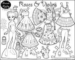 classic fashion paper doll roses u0026 violins