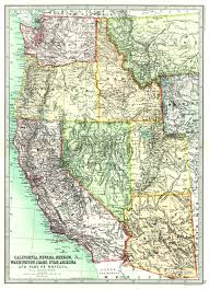 Why Do Western Maps Shrink by Maps Antique United States Us States Arizona
