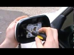 toyota yaris wing mirror glass mirror cover removing