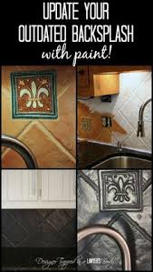 painting kitchen backsplash how to paint a tile backsplash painted tiles kitchens and house