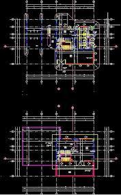 floor plan genie plan autocad d une petite villa dwg autocad and architecture