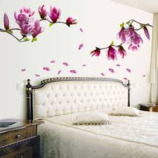 popular flower window decals buy cheap flower window decals lots 150cm 55cm magnolia flower diy wall stickers mural art home decor pvc wall decals removable
