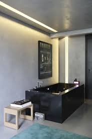 Modern Apartment Bathroom - bathroom of modern apartment with three dimensional effect of