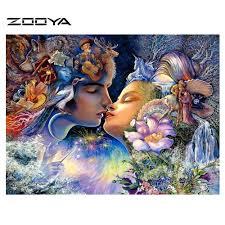 Painting Icon Aliexpress Com Buy Zooya Century Kiss Crystal Cross Stitch Kit
