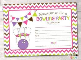 free birthday party invitation free printable bowling