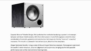 powered subwoofer for home theater system subwoofers for sale polk audio psw10 10 inch monitor series