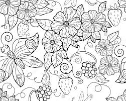 butterfly pattern flowers coloring pages adults stock free