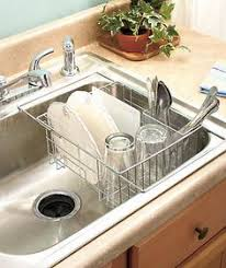 dish drainer for small side of sink stainless steel in sink dish drainer dish drainers flatware and sinks