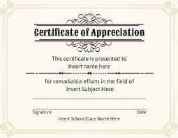editable certificate of appreciation template free certificate