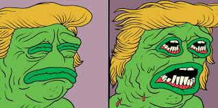 Meme Face Creator - pepe the frog creator illustrates his trump nightmare