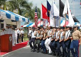 Ceremony Flag File Us Navy 070504 N 4779d 026 A Multi Service Flag Detail