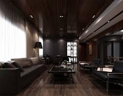 dark living room home design