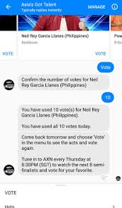 fb vote now asia got talent agtvote6 twitter search