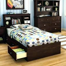 twin bed with bookcase headboard and storage twin headboard with storage kitlab co