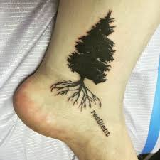 resilient black tree on ankle