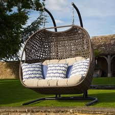 Cocoon Swing Chair Rio Double Hanging Cocoon Chair Including Fawn Cushions