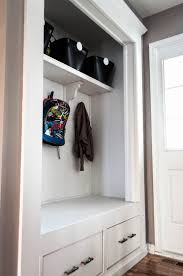 Closet Set by Always Chasing Life Mudroom Closet Reveal