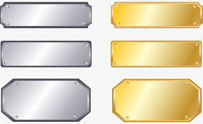 Conhecido Placa de metal de prata Placa de Ouro, A Marca, Placa De  &CG85