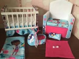 barbie baby nursery set furniture crib sofa carrier doc