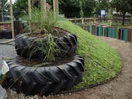Urban Garden Woodland Hills - the grass roof company using waste wool and straw tyres