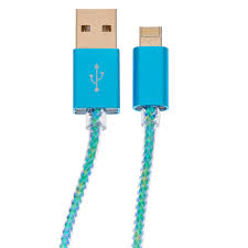 phone charger turquoise reversible dual phone charger claire s