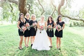 Pink And Black Bridesmaid Dresses Charming Florida Brewery Wedding Joanna Colin Black
